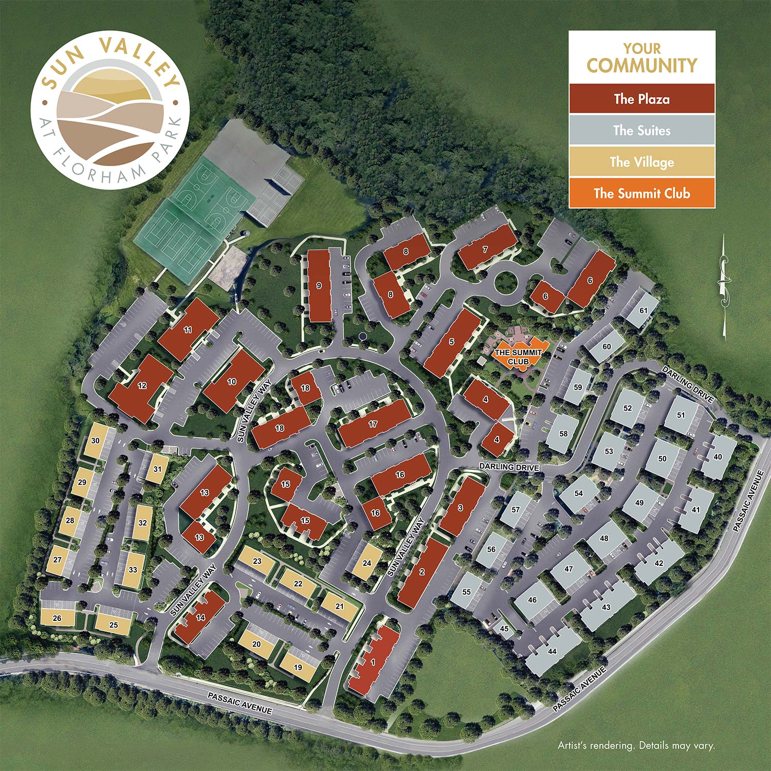Sun Valley at Florham Park - Community Site Map