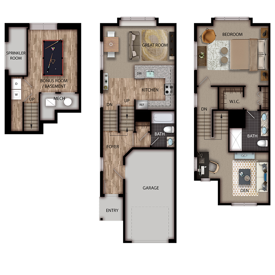 The Suites Denville 1 - 1 Bedroom w/ Den, 2 Bath
