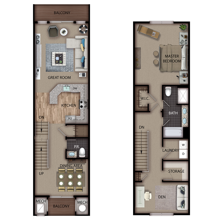 The Suites Springfield - 2 Bedroom, 2.5 Bath